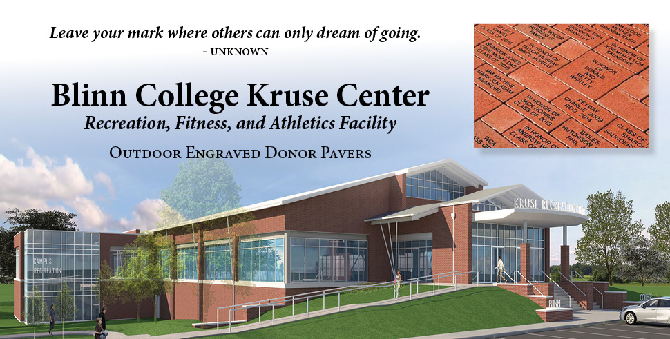Blinn College Kruse Center Donor Pavers